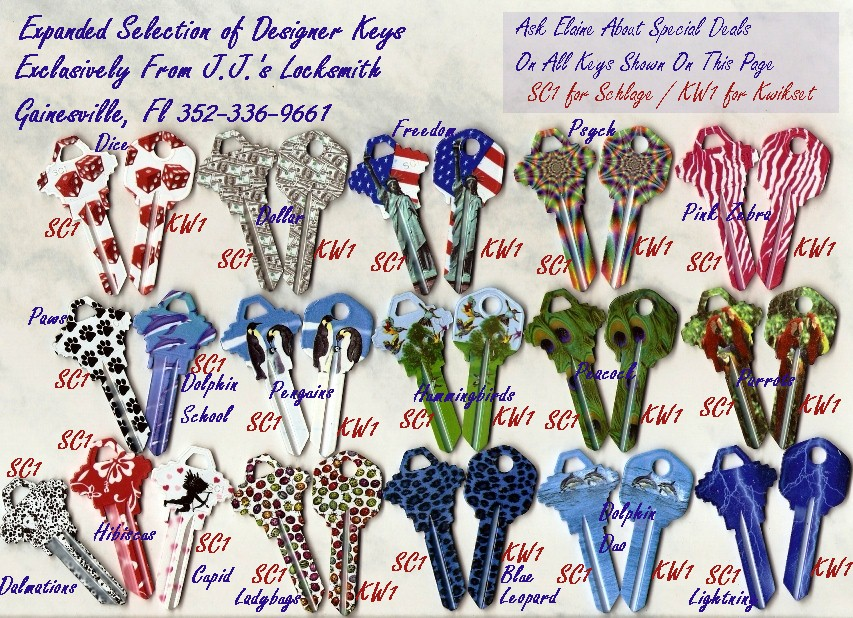 Latest Designer Keys From J.J.'s Locksmith
