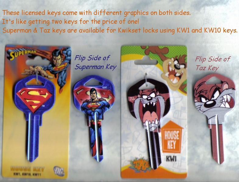 Batman and Taz also available.